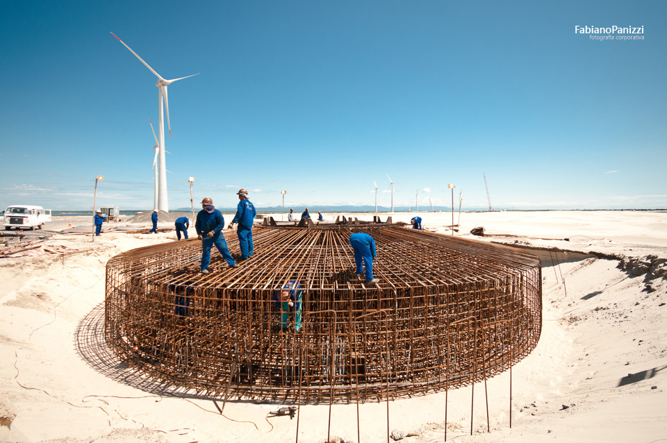 Construção do Parque Eólico