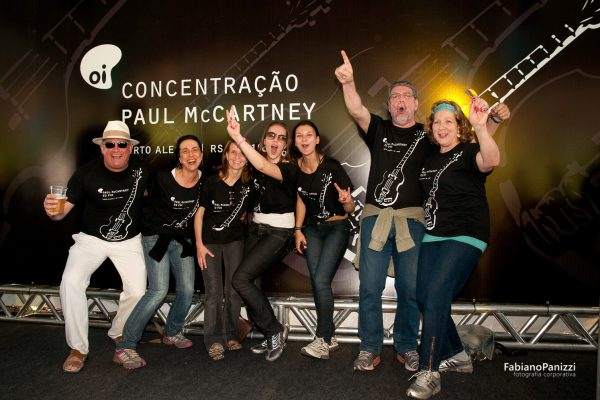 Concentração da Oi para o show do Paul McCartney