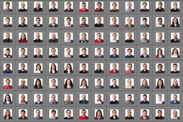 Fotos dos 850 funcionários da DHB.