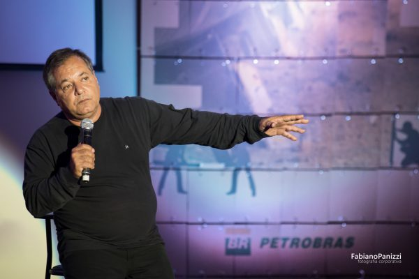 André Damasceno no evento da Petrobás.